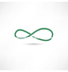 Green infinite simbol vector