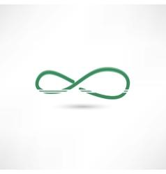 Green infinite simbol vector image