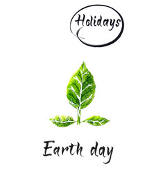 happy earth day international planet vector image