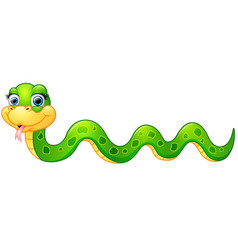 Happy green snake cartoon vector