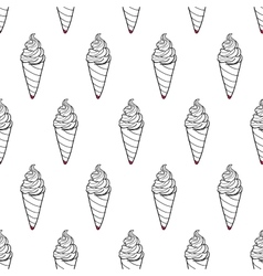 Ice Cream Easy Pattern Linear-34 vector