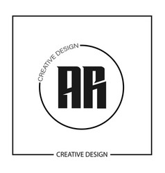 Initial letter ar logo template design vector