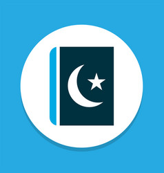 Islam book icon colored symbol premium quality vector