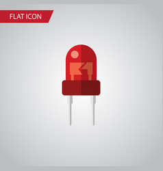 Isolated indicator flat icon recipient vector