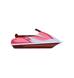 jetski icon summer rest sea vacation in flat vector image