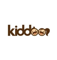 kids logo - children happy girl boy kids play joy vector image