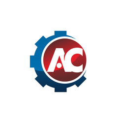 letter ac gear vector image