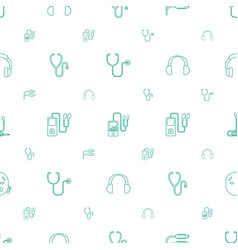 listen icons pattern seamless white background vector image