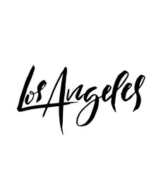 Los angeles usa typography dry brush lettering vector