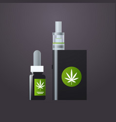 marijuana liquid for vaping vape cannabis oil vector image