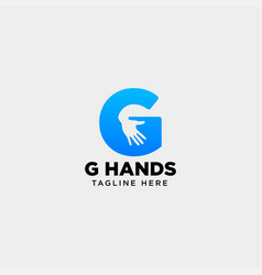 Minimal g letter initial hand logo template icon vector