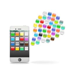 Modern touchphone gadget vector image