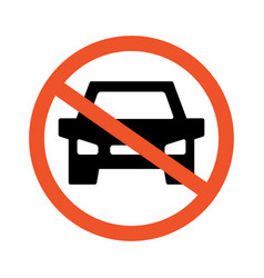no cars road and traffic jam symbol and sign vector image