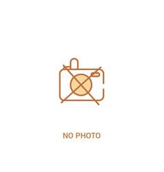 no photo concept 2 colored icon simple line vector image