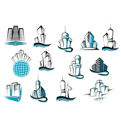 Office telecommunication and residential vector image