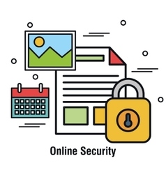 Online security documents archive file design vector