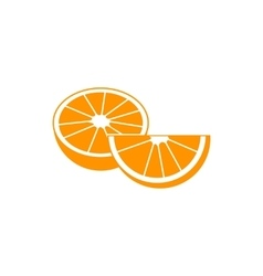 Orange fruit icon simple style vector image