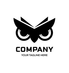 owl eyes logo designs vector image