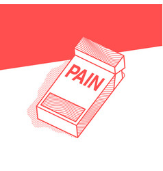 Pack cigarettes with inscription pain vector