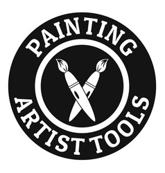 painting tool brush logo simple black style vector image