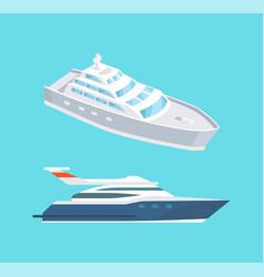 passenger liner marine travel vessel rescue boat vector image