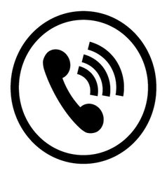 Phone icon connection black vector image