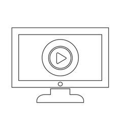 Play button tv icon design vector