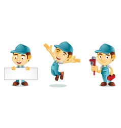 Plumber 1 vector image vector image