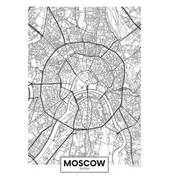 Poster map city moscow vector
