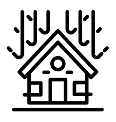 protected house roof icon outline style vector image