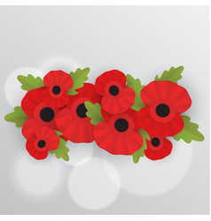 remembrance poppy - poppy appeal vector image