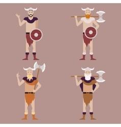 set barbarians2 vector image