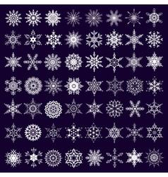 set white snowflakes vector image