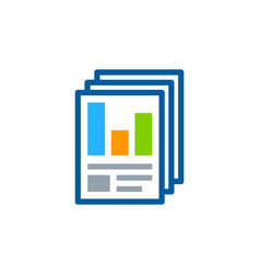 Sheet report logo icon design vector