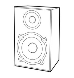 speaker icon outline style vector image