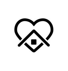 Stay home icon symbol simple design vector