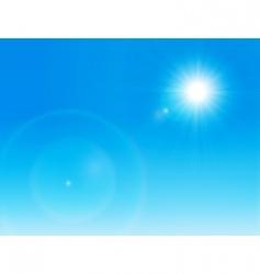 Sun on a clear sky vector