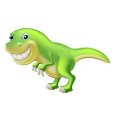 T rex cartoon dinosaur vector
