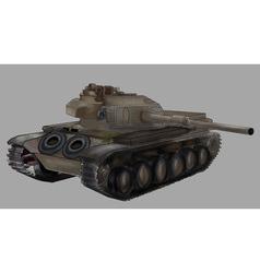 Tank image isolated khaki machine vector
