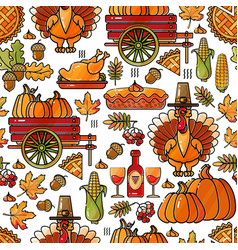 thanksgiving holiday texture colorful seamless vector image