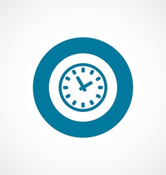 Time bold blue border circle icon vector
