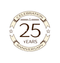 Twenty five years anniversary celebration logo vector