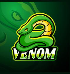 Venom esport logo mascot design vector