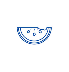 watermelon line icon concept watermelon flat vector image