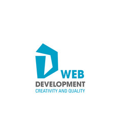 web development company d letter icon vector image