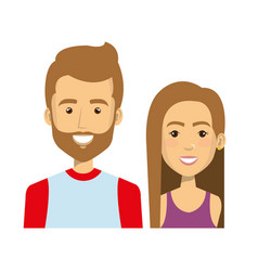 Young people style characters vector