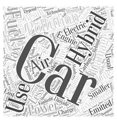 advantages of hybrid car Word Cloud Concept vector image