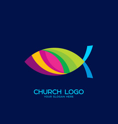 fish the symbol of jesus christ vector image vector image