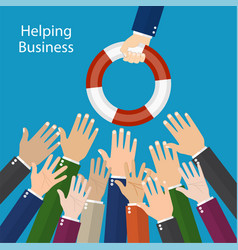 helping business to survive vector image