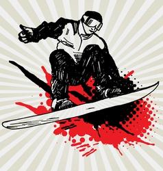snowboarder7 vector image vector image